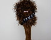 Chewbacca, Star Wars, Golf Headcover, Golf Club Cover, Golf Head Cover, Gifts for Men, Golf Gift, Knit, Crochet