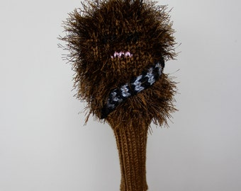 Chewbacca, Star Wars, Golf Headcover, Golf Club Cover, Golf Head Cover, Gifts for Men, Golf Gift, Knit, Crochet