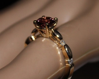 Tourmaline, Pink Tourmaline Ring, Diamond Ring, Engagement Ring/Appraisal Included