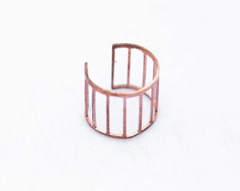 Copper Cage Ring | Adjustable | R11629