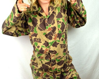 Vintage Cabela's Camouflage Camo Jumpsuit Coveralls