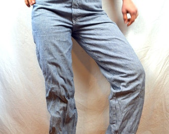 Vintage Railroader Striped 70s Carpenter Jeans - Vintage '45