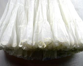 Vintage White Puffy Square Dancing Petticoat Tutu Crinoline Slip