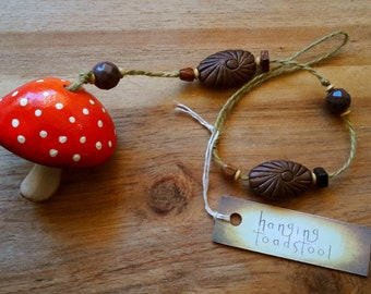 Hanging Fairy Toadstool Ornament