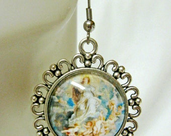Immaculate conception of Mary earrings - AP06-109