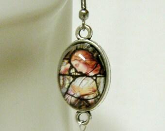 Angel stained glass window earrings - AP06-058