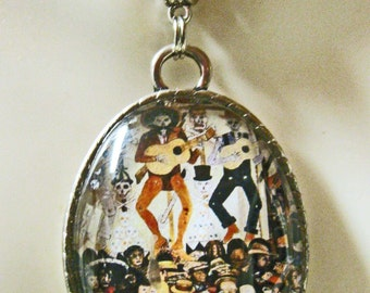 Day of the Dead pendant and chain - AP09-100 - 50% OFF