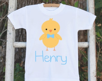 Boy Easter Outfit - Personalized Easter Onepiece - Boys Easter Shirt - Baby Chick Easter Bodysuit for Baby Boys - Kids Easter Outfit