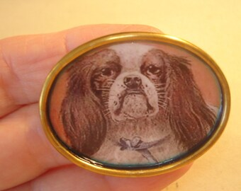 King Charles Spaniel Dog  Jewelry Brooch KL Design