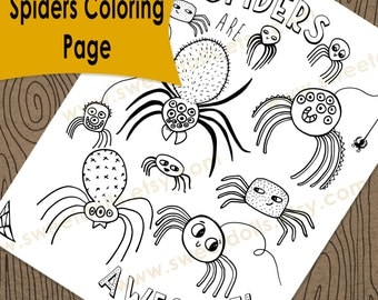 1 Cute Spider's Coloring page, Fun kids activities