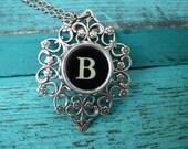 Typewriter Key Jewelry Initial B