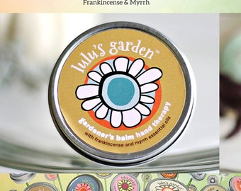 Gardeners Hand Balm, Skin Salve, Hand Therapy, Frankincense and Myrrh, Gifts for Gardeners