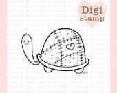 Little Turtle Digital Stamp - Digital Turtle Stamps - Turtle Stamp - Baby Stamp - Turtle Art - Turtle  Card Supply - Baby Craft Supply
