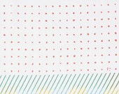 Japanese Tenugui Towel Cotton Fabric, Citrus Soda Ice Design, Dot, Stripe, Abstract Art, Modern Art Fabric, Home Decor, Headband, Scarf, n43