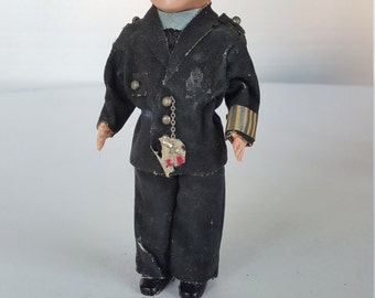 Creepy Plastic Military/ War Doll