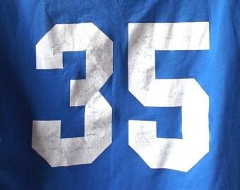 vintage 1990's blue tshirt sports jersey shirt men large lg women xl clothing fashion t shirt tee retro cotton blend modern baseball athlete