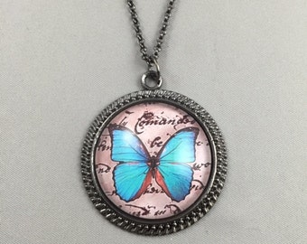 Butterfly Necklace - Butterfly Pendant - Butterfly Key Chain - 48 Butterfly Choices - 5 Finishes Available