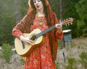 Vintage 1970s Gypsy Maxi Dress... Mori Girl... Boho Couture... Eastern European Inspired