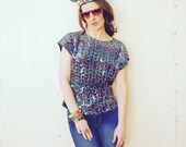 Size Medium... Sequined Top... Super Glam Party Animal... 1990s NYC Club Kid