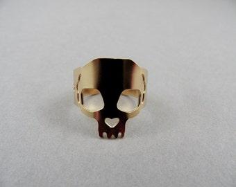 skull ring, memento mori ring, gold skull ring, skull jewelry