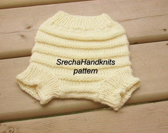 PDF Knitting Pattern - Baby Diaper Cover,Handknitted Wool diaper cover,Hand knit wool soaker Knitting Pattern