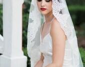 Leonor,Lace Veil, Cathedral Veil, Mantilla Veil, Ivory Veil, Fingertip Veil, Cathedral Mantilla Veil, Chapel Veil, Cathedral Lace Veil