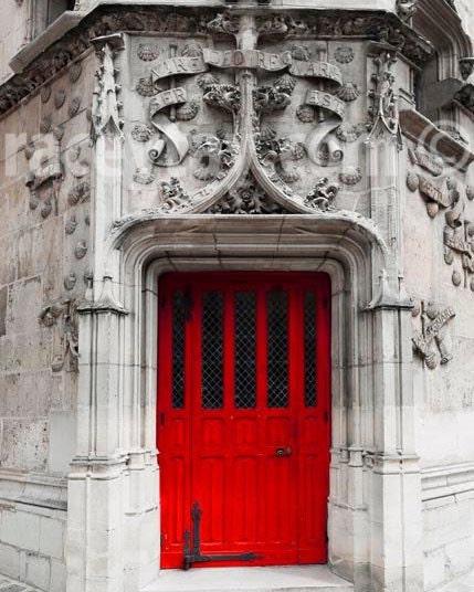 ?zoom & Red Door Paris Print Gray Red Rustic Architecture Travel pezcame.com