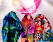 Colorful Infinity Tube Scarves, Soft Round Scarves, Short Tube Scarves,  Women's Short Floral Circle Scarf,  Handmade  Colorful Tube Scarves