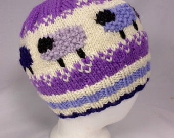 Purple Sheep Wool Hat