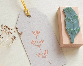 Rubber Stamp for the kitchen | Dill twig | Dill Stamp | Kitchen Stamp | Herb Stamp | Dill plant | Botanical Stamp | Homemade Stamp