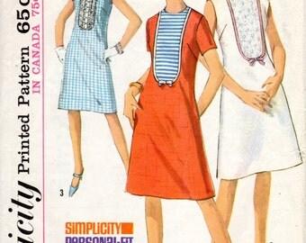 1960s Shift Dress Pattern - Vintage Simplicity 5964 - Bust 33