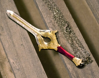 Handmade Acrylic Fire Emblem Falchion Necklace