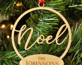Personalized Christmas Ornament Laser Engraved
