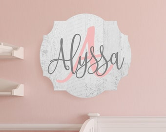 Personalized Nursery Baby Name Sign In Rustic Finish