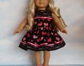 18 inch doll clothes - #316 Valentines Dress made to fit the American Girl Doll - FREE SHIPPING