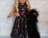 18 inch doll clothes - #201 Colorful Sequin Gown made to fit the American Girl Doll  - FREE SHIPPING          l