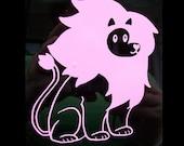 Steven Universe Lion vinyl car decal
