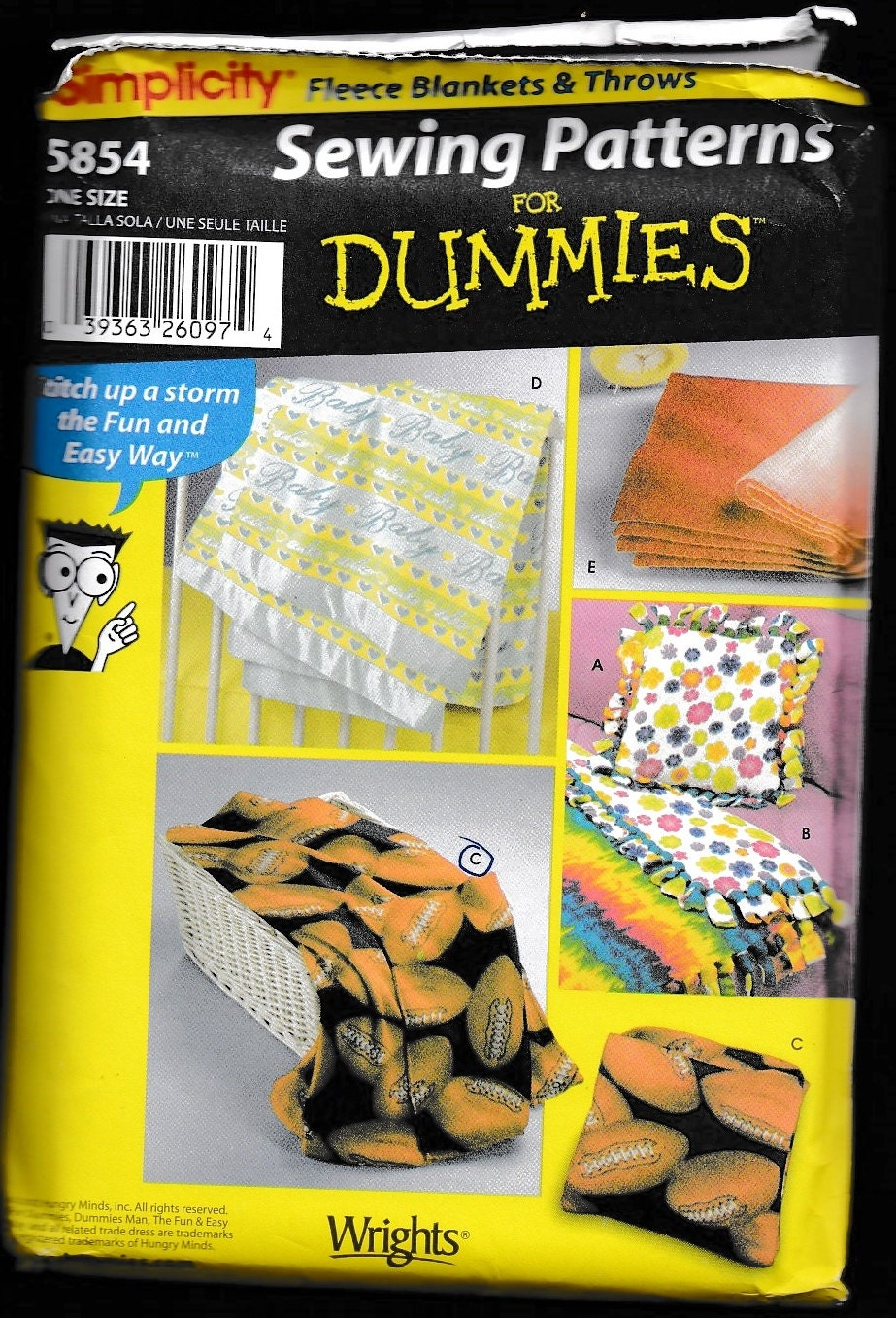 Simplicity 5854 fleece blankets and throws sewing patterns for Koi ponds for dummies