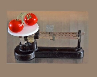 Vintage 1930's Cast Iron Scale by Central Scientific Co.