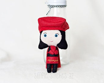 "5.5"" Lord Farquaad Felt Made to Order Doll - Lord Farquaad Doll - Shrek - Miniature Doll - Fairy Tale Doll - Gingermelon Doll"