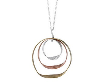 Mobius Strip Necklace - Silver, brass, copper