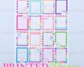 Workout Motivation Full Boxes - LINED - printed kiss cut stickers for your planner or calendar - full sheet - MATTE - GRCS
