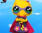 Anthropomorphic flower felt tulip doll Supertulip
