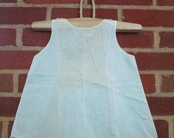 Vintage Handmade White Baby Dress