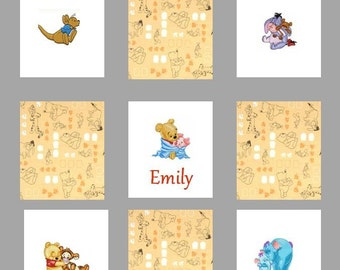 Custom Embroidered Winnie the Pooh Baby / Toddler Quilt -choose the fabrics -Crib Bedding available - Payment Plan available