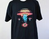 SALE - Vintage Boston Rock Band UFO Space Ship T Shirt - Mens Size XL