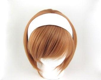 Fabric Headband White Cotton Headwrap