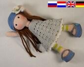 Crochet pattern for doll LILLY (Deutsch, English, Nederlands, русский)