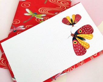 Mini Cards and Envelopes - Gift Enclosure - Gift Card Holder - Set of 10