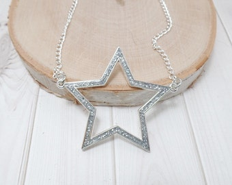 Silver Star Necklace - 4th of July - Star Necklace